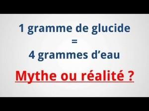 Glucides et rétention d'eau : 4g d'eau pour 1g de glucide. Mythe ou réalité ?