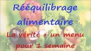 Rééquilibrage Alimentaire pour Maigrir : Menu, Mythe et Vérité !