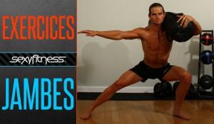 Fente Latérale Sac de Sable sur l'Epaule: Musculation du Bas du Corps | Quadriceps + Fessier