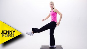 How to do a KICK step aerobics – JENNY FORD