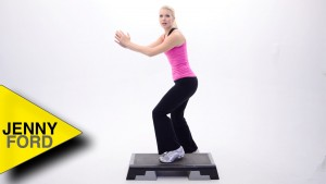 How to do a KNEE LIFT -step aerobics – JENNY FORD