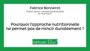 Pourquoi l'approche nutritionnelle ne fonctionne pas ?