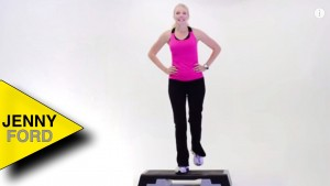 How to do a BASIC LEFT – step aerobics – JENNY FORD